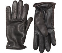 UGG Australia Womens Darin Side Whip Tech Leather Glove Black
