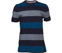 Herren Birdseye Colour Block T-Shirt Blau
