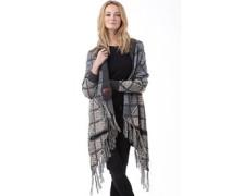 Womens Ombre Tassle Cardigan Grey