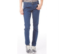 Damen Skinny Jeans Mittelblau