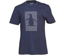 Shadow Stripe Pete Graphic T-Shirt Navy