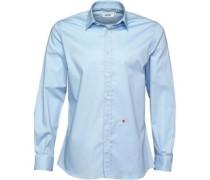 Herren Hemd mit langem Arm Blau
