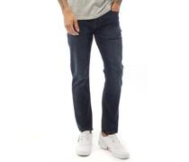 Jeans mit geradem Bein Dunkel
