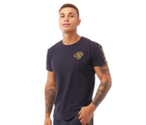 Gold Bloon T-Shirt Dunkelnavy