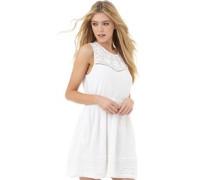 Superdry Damen Spring Tipi Optic Kleid Weiß