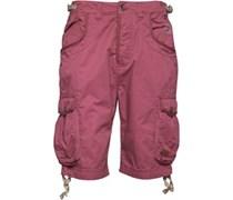 Firetrap Herren Velzy Cargo Shorts Dunkelrot