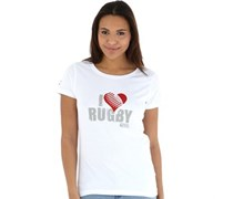 Canterbury Damen I Love T-Shirt Weiß
