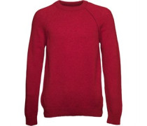 Lyle And Scott Vintage Mens Shetland Wool Jumper Ruby