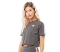 Karina CRS Crop Taped T-Shirt Anthrazit-