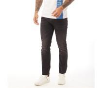 Buraca Jeans in Slim Passform Verwaschenes Schwarz