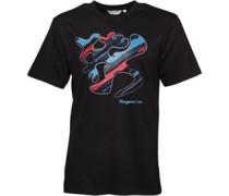Kangaroo Poo Herren Splat Logo T-Shirt Black