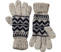 Herren Nepp Fairisle Handschuhe Navy