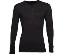 Levi's Mens Henleys Ribbed T-Shirt Black