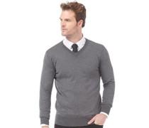 Herren Pullover mit V-Ausschnitt Graumeliert