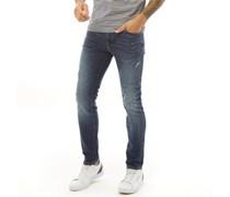 -Leon 3034 M Blue Jean Bootcut Jeans Mittel