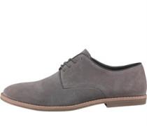 Herren Suede Derby Schuhe Grau
