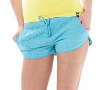 Damen Baumwolle Runner Shorts Aquamarine