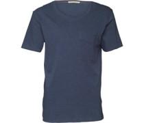 Herren T-Shirt Blaumeliert
