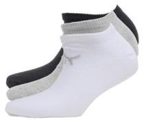 Drei Pack No Show Socken Grau