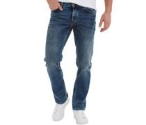Herren Regular IND18 Vintage Jeans in Slim Passform Blau