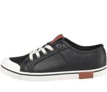Mädchen Broderick Pebbled Sneakers Schwarz
