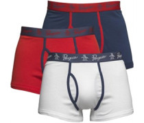 3 Packung Boxershorts in lose Passform Rot