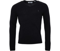 Original Penguin Mens Long Sleeve Raglan Jersey V-Neck Jumper True Black