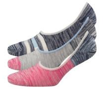 Damen 3 Packung Socken Rosa