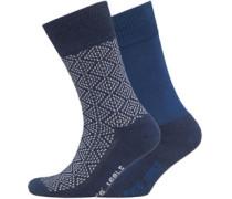 Levi's Mens 2 Pack Graphic Sock 058 Indigo