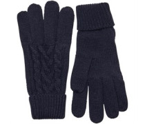 Cable Handschuhe Navy