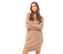 Prime High Neck Strickkleid Taupe