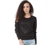 adidas Neo Womens Skull Knitted Sweater Black
