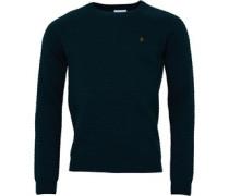 Farah Vintage Herren Keighly Pullover mit Rundhalsausschnitt Dunkelgrün