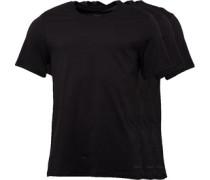 Herren Packung Von Drei T-Shirt Schwarz