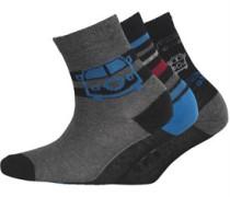 Jungen 3 Pack Socken Graumeliert