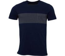 Herren Single Pocket T-Shirt Blau