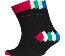 French Connection Herren Five Socken Schwarz