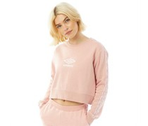 Active Style Cropped Taped Sweatshirt