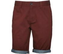 Herren Turn Up Chino Shorts Rot