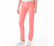 Damen Skinny Jeans mit geradem Bein Rosa