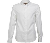 Timberland Herren Lane River Oxford Yarn Dye Hemd mit kurzem Arm Weiß