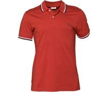 Herren New Contrast Polohemd Rot