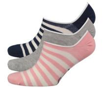 Damen Drei Pack Socken Mehrfarbig