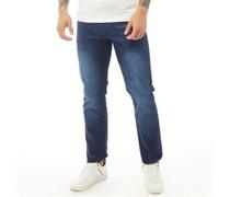 Princed Jeans mit geradem Bein Dunkel