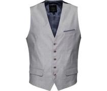 Ted Baker Mens Shemwai Spot Cotton Waistcoat Light Grey