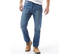 Herren 5 Tasche Reg Jeans in regulär Passform Mittelblau