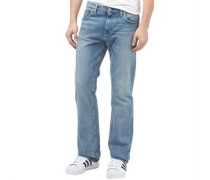 Herren 527 Boot Cut Jeans in Slim Passform Denimmeliert Blau