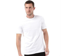 Herren North Seam Detail Pique T-Shirt Weiß