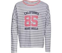 Mädchen Yarn Dyed Stripe Top Grau