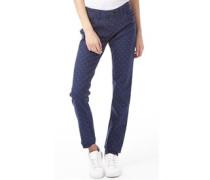 Damen Polka Dot Skinny Jeans Navy